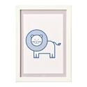 Oroszlán - keretezett kép gyerekeknek. Állatos gyerekszobai dekoráció oroszlánnal A4-es méretben., Otthon, lakberendezés, Baba-mama-gyerek, Gyerekszoba, Baba falikép, Oroszlános falikép. Az állatos, letisztult, monokróm minimalista képek feldobják a gyerekszobát. A k..., Meska