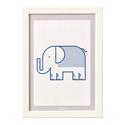 Elefánt - keretezett kép gyerekeknek. Állatos gyerekszobai dekoráció elefánttal A4-es méretben., Baba-mama-gyerek, Dekoráció, Gyerekszoba, Baba falikép, Elefántos falikép. Az állatos, letisztult, monokróm minimalista képek feldobják a gyerekszobát. A ké..., Meska