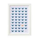 Tengerpart - keretezett kép állatokkal: tengeri rákok petrol kék és mustár színben. Nyári tengerparti gyerekszoba dekor, Baba-mama-gyerek, Dekoráció, Gyerekszoba, Baba falikép, Tengerpart - keretezett kép tengeri állatokkal. Tengeri rákok petrol kék és mustár színben. Nyári te..., Meska