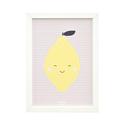 Citrom - keretezett kép gyerekszobába, pasztell sárga citrom és bézs pöttyök, gyümölcsös dekoráció kislánynak, Baba-mama-gyerek, Dekoráció, Gyerekszoba, Baba falikép, Citrom - keretezett kép gyerekszobába, sárga citrom és bézs pöttyök, gyümölcsös dekoráció kislánynak..., Meska