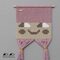 CHIRPY CHARLIE - hajbavaló tartó / makramé fali dekoráció / kislány szoba fali dísz és tároló, Baba-mama-gyerek, Gyerekszoba, Falvédő, takaró, Baba falikép, CHIRPY CHARLIE - hajbavaló tartó / makramé fali dekoráció -----------------------------------  Vidám..., Meska