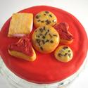 Konyhai tárolóedény aprósüteménynek, cukornak, lisztnek kisüthető gyurmával dekorálva, Kisüthető gyurmából készült csokis sütik é...