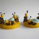 Két darab méhecskés mézpumpa ékszergyurmával díszítve, Angéla rendelésére készülő, méhecskékkel d...