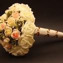 Jogar alakú szülőköszöntő csokor, Esküvő, Esküvői csokor, Csokor, Ezzel a jogar alakú csokorral méltón köszönheted meg édesanyád szeretetét, mely egy ÖRÖK emlék marad..., Meska