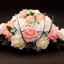 Autódisz (vákuumos), Esküvő, Esküvői dekoráció, Ez a nyújtott autódisz egy korábbi rendelésre készült.   A diszhez polifoam rózsákat illetve selyem ..., Meska