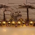 Szívószálas világítós asztaldísz, Dekoráció, Karácsonyi, adventi apróságok, Ünnepi dekoráció, Karácsonyi dekoráció, Ennél a hosszú asztaldísznél kb. 2500 db átlátszó szívószálat ragasztottam össze, mely (elemes) vilá..., Meska