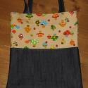 Gombás-farmer szatyor táska, 31x35 cm-is szatyor táska, aminek a füle 70 cm. ...