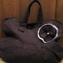 Sötétbarna pakolós táska, Sötétbarna erős vászonanyagból készült, bé...