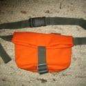 Narancs övtáska - lefoglalva, Narancssárga, erős vászonból készült övtás...