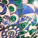 Kép - Az elemek találkozása - üvegfestmény 60 x 80 cm, Otthon, lakberendezés, Képzőművészet, Esküvő, Falikép, Festett tárgyak, Üvegművészet, Saját tervezésű mintavilág alapján, üvegre festett kép, bronz-arany kerettel! Címe - Az elemek talá..., Meska