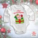 Karácsonyi baba body - Első karácsonyom - Kukucska (fiú/lány), Baba-mama-gyerek, Ruha, divat, cipő, Gyerekruha, Baba (0-1év), Mindenmás, Kukucs! A család legkisebb tagjának az első karácsony! Ez a body kiváló része lehet akár egy karács..., Meska