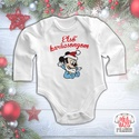 Karácsonyi baba body - Első karácsonyom - Mickey, Baba-mama-gyerek, Ruha, divat, cipő, Gyerekruha, Baba (0-1év), Mindenmás, A család legkisebb tagjának az első karácsonya! Ez a body kiváló része lehet akár egy karácsonyi cs..., Meska