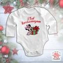 Karácsonyi baba body - Első karácsonyom - Minnie, Baba-mama-gyerek, Ruha, divat, cipő, Gyerekruha, Baba (0-1év), Mindenmás, A család legkisebb tagjának az első karácsonya! Ez a body kiváló része lehet akár egy karácsonyi cs..., Meska