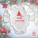 Karácsonyi baba body - Boldog Karácsonyt!, Baba-mama-gyerek, Ruha, divat, cipő, Gyerekruha, Baba (0-1év), Mindenmás, Boldog Karácsonyt! Ez a body kiváló része lehet akár egy karácsonyi családi fotózásnak is.  A body ..., Meska