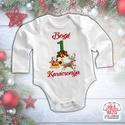Karácsonyi baba body - Első karácsonyom - Karácsonyi szán, Baba-mama-gyerek, Ruha, divat, cipő, Gyerekruha, Baba (0-1év), !A karácsonyi hajtás miatt kis türelmét kérjük mindenkinek! Amennyiben 1 napon belül nem válaszolunk..., Meska