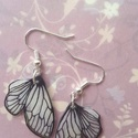 Zsugorka pillangó szárny fülbevaló, Ékszer, Fülbevaló, Zsugorkázással készült lógós fülbevaló. Kb 3cm hosszú a dísz. :), Meska