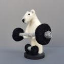 Testépítő jegesmedve, Férfiaknak, Dekoráció, Otthon, lakberendezés, Dísz, A világ egyik legerősebb állata a jegesmedve, de még neki is szinten kell tartania erőnlétét, ezért ..., Meska