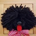 Fekete puli kutya képkeretben, Dekoráció, Otthon, lakberendezés, Kép, Falikép, A magyar puli igazi hungarikum. Ez a kézzel készült egyedi fekete puli igazán különleges dísze lehet..., Meska