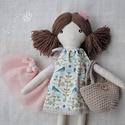 """Baba, Textilbaba, """"Szonja a kis balerina"""", játékbaba, rongybaba , Játék, Baba-mama-gyerek, Baba, babaház, Plüssállat, rongyjáték, Szonja 35 cm magas öltöztethető textilbaba.  Arca részben kézzel hímzett, részben festett, haja kézi..., Meska"""