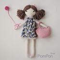 """Baba, Textilbaba, """"Boróka a kis balerina"""", játékbaba, rongybaba , Játék, Baba-mama-gyerek, Baba, babaház, Plüssállat, rongyjáték, Boróka 35 cm magas öltöztethető textilbaba.  Arca részben kézzel hímzett, részben festett, haja kézi..., Meska"""