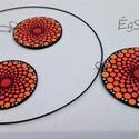 UNIVERZUM VIRÁGAI - Narancs piros barack narancs sárga ékszer szett - csakra sorozat, Ékszer, Ékszerszett, Fülbevaló, Nyaklánc, Egy ékszerszett, amely garantáltan jókedvre derít bármilyen komor időjárás közepette, s ame..., Meska