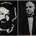 REKREDENC -  mozaik faliképek sztárokról, Dekoráció, Otthon, lakberendezés, Kép, Falikép, Mozaik, Üvegművészet, Üvegmozaik falikép, különböző mintával. 55x45 cm.  Elkészítési ideje kb. 1 hét.   A képek illusztrá..., Meska