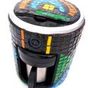 REKREDENC - mozaikkal díszített kávé- vagy teafőző, Konyhafelszerelés, Dekoráció, Otthon, lakberendezés, Mindenmás, Mozaik, Mozaik technikával kicsinosított vadonatúj, filteres kávé- vagy teafőző. Egyedi, dekoratív kiegészí..., Meska