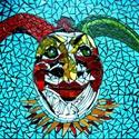 """""""Harlequin"""" mozaik falikép LEÁRAZVA!, Dekoráció, Otthon, lakberendezés, Kép, Falikép, Üvegművészet, Mozaik, Mozaik technikával készült falikép. Leárazva!   55x44 cm  38900 ft helyett most a feléért 19450 ft-..., Meska"""
