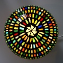 REKREDENC - Mozaik design gömb hangulatlámpa, Dekoráció, Otthon, lakberendezés, Lámpa, Hangulatlámpa, 27 cm átmérőjű gömb hangulatlámpa mozaik díszítéssel, akár sötétben fluoreszkáló mozai..., Meska