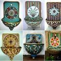 REKREDENC - Mozaik dizájn, felújított régi falikút, kút, Dekoráció, Otthon, lakberendezés, Konyhafelszerelés, Mozaik, Mozaikkal díszített, egyedi falikút.  A KÉPEN LÁTHATÓ KUTAK INSPIRÁCIÓK! Ha tetszik, megrendelésre ..., Meska