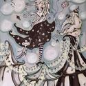 Cirkusz, Dekoráció, Képzőművészet, Kép, Festmény, 30x40 cm-es egyedi, akril technikával készült festmény farostlemezen., Meska