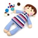 Alvó fiú Baba, Rongybaba, Játékbaba -Cleo, Játék, Baba játék, Baba, babaház, Plüssállat, rongyjáték, Cleo baba 100% termeszetes eredetű alapanyagokból készült.   Ez a szépséges kisfiú baba kedve..., Meska