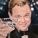 Leonardo Di Caprio portré, Képzőművészet, Grafika, Rajz, Vegyes technika, Fotó, grafika, rajz, illusztráció, 40x30 cm, realisztikus, vegyes technikával készült a Leonardo Di Caprio portré  Ajándék kerettel  K..., Meska