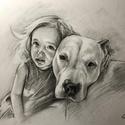 Kedvenc  portré rajzolás / A4 lapméret - 2 személyes / Ajándékozz szénceruza portrét