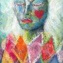Lány..., Képzőművészet, Festmény, Pasztell, Illusztráció, Festészet, Fotó, grafika, rajz, illusztráció, pasztell festmény A/4, Meska