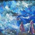 Vihar, Képzőművészet, Festmény, Pasztell, Illusztráció, Festészet, Fotó, grafika, rajz, illusztráció, kb 50x65 cm, Meska