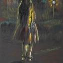 Alice 2., Képzőművészet, Dekoráció, Grafika, Rajz, Fotó, grafika, rajz, illusztráció, pasztell rajz 21x30 cm, Meska
