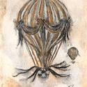 Fenn 6., Képzőművészet, Dekoráció, Festmény, Festmény vegyes technika, Festészet, Fotó, grafika, rajz, illusztráció, 10x15 cm pasztell festmény, Meska