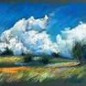 POLCSEPRÉS:) Tanulmány - dombok 2., Képzőművészet, Dekoráció, Grafika, Rajz, Fotó, grafika, rajz, illusztráció, Festészet, pasztell rajz 30x21 cm, Meska