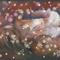 Kis akt hóban, Képzőművészet, Dekoráció, Grafika, Rajz, pasztell rajz 30x21 cm (festmény tanulmány), Meska