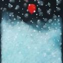 Hóban:), Képzőművészet, Dekoráció, Festmény, Pasztell, Festészet, Fotó, grafika, rajz, illusztráció, pasztell festmény 21x30 cm, Meska
