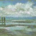 Távoli parton..., Képzőművészet, Dekoráció, Festmény, Pasztell, Festészet, Fotó, grafika, rajz, illusztráció, pasztell festmény 30x21 cm, Meska