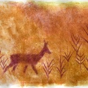 Mezőn, Képzőművészet, Dekoráció, Festmény, Pasztell, Festészet, Fotó, grafika, rajz, illusztráció, pasztell festmény 30x21 cm (ennek a képnek az alapozása arany festékkel készült, a valóságban nagyo..., Meska