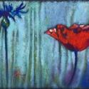 Búzavirág és pipacs, Képzőművészet, Dekoráció, Festmény, Pasztell, Festészet, Fotó, grafika, rajz, illusztráció, pasztell festmény 30x21 cm, Meska