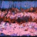 Színtanulmány - hajnali hó, Képzőművészet, Dekoráció, Festmény, Pasztell, Festészet, Fotó, grafika, rajz, illusztráció, pasztell festmény 30x21 cm, Meska
