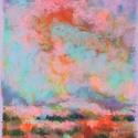 Színtanulmány - felhők, Képzőművészet, Dekoráció, Festmény, Pasztell, Festészet, Fotó, grafika, rajz, illusztráció, pasztell festmény 21x30 cm, Meska