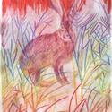 Valami Alice 2., Képzőművészet, Dekoráció, Grafika, Rajz, Festészet, Fotó, grafika, rajz, illusztráció, pasztell rajz 21x30 cm, Meska