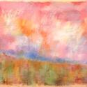 Színtanulmány - nyárutó, Képzőművészet, Dekoráció, Festmény, Pasztell, Festészet, Fotó, grafika, rajz, illusztráció, pasztell festmény 33x23 cm, Meska