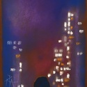Könyöklő:), Képzőművészet, Dekoráció, Festmény, Pasztell, Festészet, Fotó, grafika, rajz, illusztráció, pasztell festmény 21x30 cm, Meska