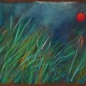 Fűben, Képzőművészet, Dekoráció, Festmény, Pasztell, Festészet, Fotó, grafika, rajz, illusztráció, pasztell festmény 30x21 cm, Meska